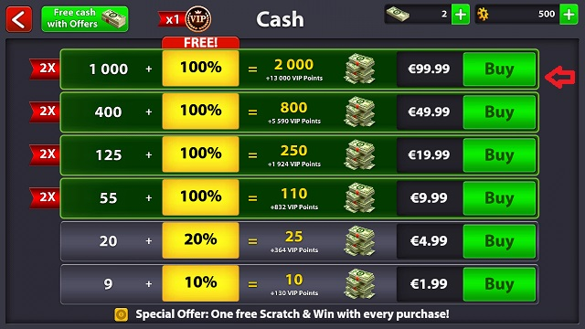 Change or add payment method (8 Ball Pool) – Miniclip Player